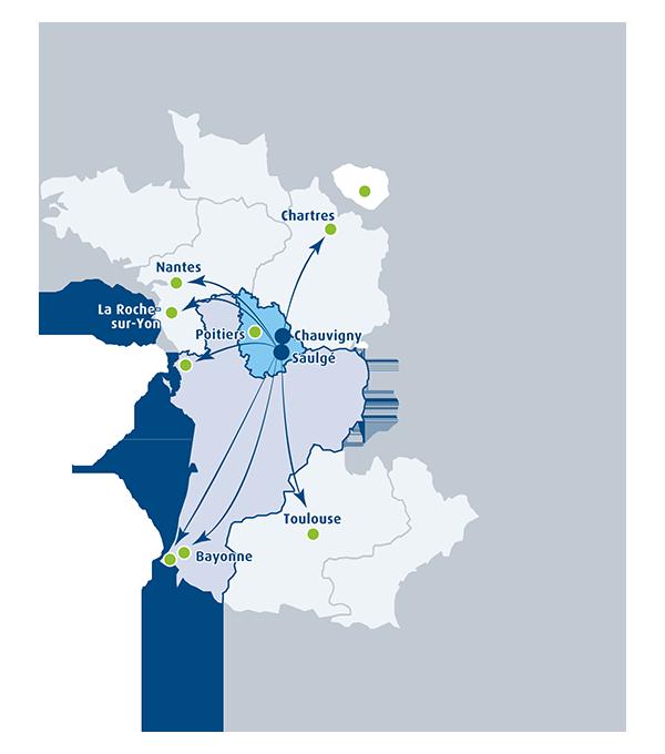 Nos références - Carte de France